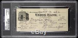 1936 Alvin York Sergeant York Signed Check (PSA/DNA Slabbed)