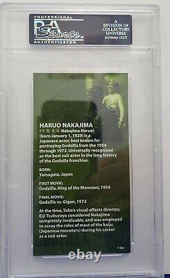 1954-1971 Haruo Nakajima Godzilla Signed LE Trading Card (PSA/DNA Slabbed)