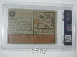 1962 Topps Lou Brock Rookie Signed Autographed Card #387 Psa/Dna Slabbed Coa RC