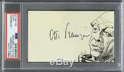 1966 Otto Preminger Mr. Freeze Batman Signed 3x5 Index Card (PSA/DNA Slabbed)