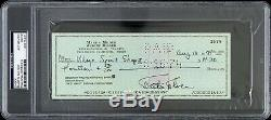 1974 Martin Milner Adam-12 Signed Check (PSA/DNA Slabbed)