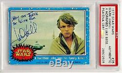 1977 STAR WARS MARK HAMILL Signed May The Force Be With You Card PSA/DNA SLAB