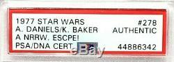 1977 Star Wars ANTHONY DANIELS & KENNY BAKER Signed Card #278 SLABBED PSA/DNA