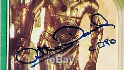 1977 TOPPS ANTHONY DANIELS Signed C3-PO Card #207 SLABBED PSA/DNA #44898207