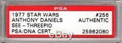 1977 TOPPS ANTHONY DANIELS Signed C3-PO Card SLABBED PSA/DNA #25962060