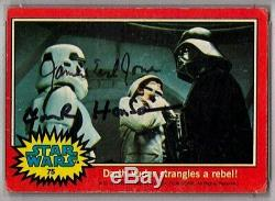 1977 Topps JAMES EARL JONES & F HENSON Signed Darth Vader Card SLABBED PSA/DNA