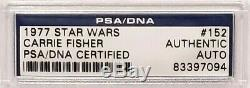 1977 Topps STAR WARS CARRIE FISHER Signed Princess Leia Card PSA/DNA SLABBED
