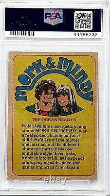 1978 Topps Mork & Mindy ROBIN WILLIAMS Signed Autograph Card #12 PSA/DNA Slabbed