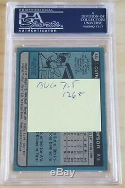 1980 Topps Rickey Henderson #482 Auto Autographed PSA/DNA Slabbed RC Signed 7.5