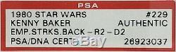 1980 Topps Star Wars KENNY BAKER Signed R2-D2 Card SLABBED PSA/DNA #26923037