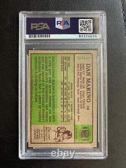 1984 Topps Dan Marino Rookie Autographed Auto PSA/DNA Slabbed Card