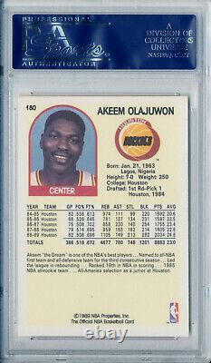 1989-90 Hoops HAKEEM OLAJUWON Signed Card PSA/DNA Slabbed Vintage Akeem Auto HOF