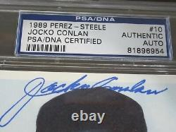 1989 Jocko Conlan Autograph / Signed Perez Steele PSA/DNA Slabbed