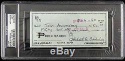 1990 Herb Adderley Signed Check Green Bay Packers (PSA/DNA Slabbed)