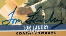 1990 Pro Set #28 Tom Landry HOF Dallas Cowboys Auto Signed PSA/DNA Slabbed