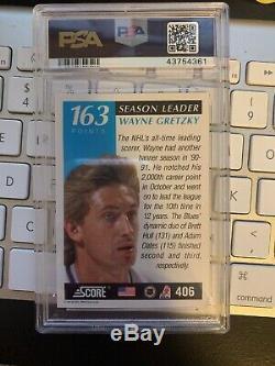 1991 Score Hockey Wayne Gretzky Signed Card Psa/dna Slabbed Autograph Grade 10
