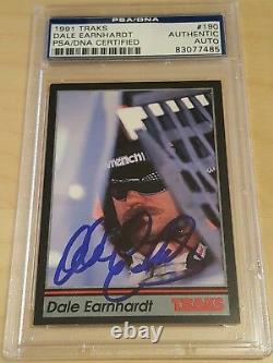 1991 Traks Dale Earnhardt Signed Autographed Card #190 Psa Dna Slabbed Auto