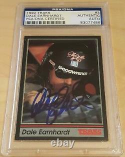 1991 Traks Dale Earnhardt Signed Autographed Card #3 Psa Dna Slabbed Auto