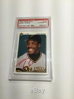 1992 Upper Deck Signed PSA/DNA Slabbed Card Barry Bonds