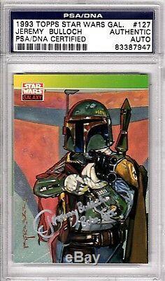1993 STAR WARS JEREMY BULLOCH Signed BOBA FETT Card PSA/DNA SLABBED #83387947