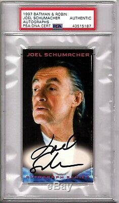 1997 Skybox Batman & Robin Director JOEL SCHUMACHER Signed Card PSA/DNA SLABBED