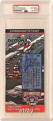 1998 Dale Earnhardt Sr. Signed Daytona 500 Commemorative Ticket PSA/DNA Slabbed