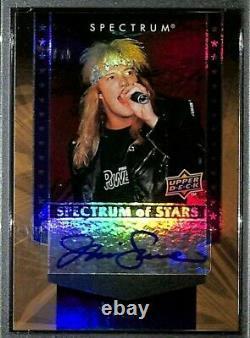 2008 Upper Deck Spectrum of Stars JANI LANE Warrant Signed Card PSA/DNA 10 Slab
