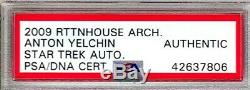 2009 Star Trek ANTON YELCHIN Chekov Signed Autographed Card PSA/DNA Slabbed