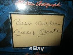2013 Historic Autographs MICKEY MANTLE SIGNED BEST WISHES PSA DNA SLABBED AUTO