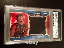 2013 TNA WWE Impact Hulk Hogan Worn Jumbo Shirt Signed Auto PSA/DNA Slabbed