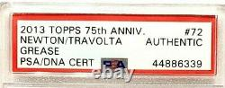 2013 TOPPS Grease JOHN TRAVOLTA, OLIVIA NEWTON JOHN Signed Card SLABBED PSA/DNA