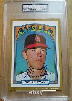 2015 Topps Cardboard Icons Gold Nolan Ryan 1972 Topps Autograph PSA/DNA SLAB /49