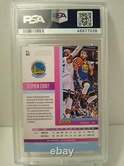 2017 Panini Status Stephen Curry Signed Auto Card PSA DNA Slabbed #83 Warriors