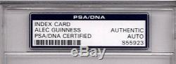 ALEC GUINESS Star Wars Obi Wan Kenobi Signed Index Card PSA/DNA SLABBED