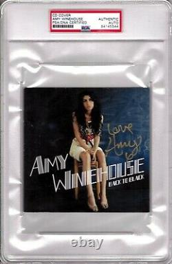 AMY WINEHOUSE Signed Autographed Back To Black CD Cover Slabbed PSA/DNA