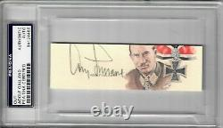 Adolf Galland Signed Cut Signature Psa Dna Slabbed 84124488 (d) Wwii