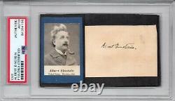 Albert Einstein signed Full Name Cut PSA DNA Slabbed Auto German Scientist C710