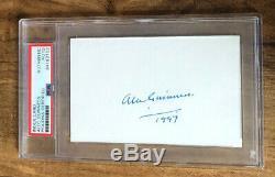 Alec Guinness Signed Obi-Wan Kenobi Card Star Wars Autographed PSA/DNA Slabbed