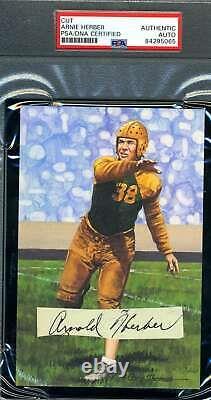 Arnie Herber PSA DNA Coa Autograph 1938 Signed Slabbed Goal Line Card Cut