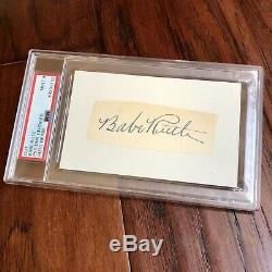 BABE RUTH PSA/DNA Mint 9 Graded Autograph Encapsulated Signed Slabbed Yankee