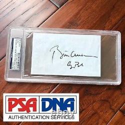 BILL CLINTON & GEORGE H. W. BUSH PSA/DNA Slab Autograph Signed Receipt Paper
