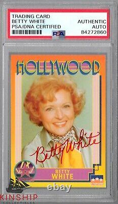 Betty White signed Hollywood Trading Card PSA DNA Slabbed Auto Golden Girls C709