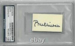 Bill Clinton signed 1.25x2.25 Cut Signature PSA/DNA Slabbed #83907026 POTUS