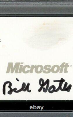 Bill Gates Signed Autographed Microsoft Business Card Auto Slabbed PSA/DNA RARE