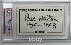 Bill Walsh 49ers Signed Autographed 3x5 Index Card HOF 1993 PSA/DNA New Slab