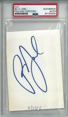 Billy Joel Signed Authentic Autographed 4.75x3.5 Cut Slabbed PSA/DNA #84180464
