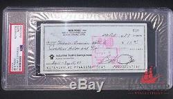 Bob Ross signed check PSA DNA Slabbed Auto Painter d. 1995 C301