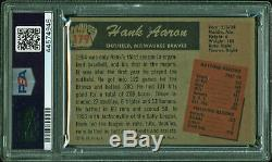 Braves Hank Aaron Signed 1955 Bowman #179 Auto Card Graded 8 PSA/DNA Slabbed