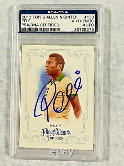 Brazil Cosmos Pele Signed 2013 Topps Allen & Ginter #130 Card PSA/DNA Slabbed