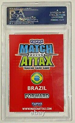 Brazil Cosmos Pele Signed Topps Match Attax 100 Club Card PSA DNA Slabbed